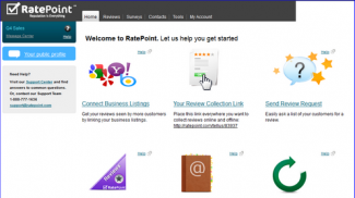 ratepoint customer review dashboard