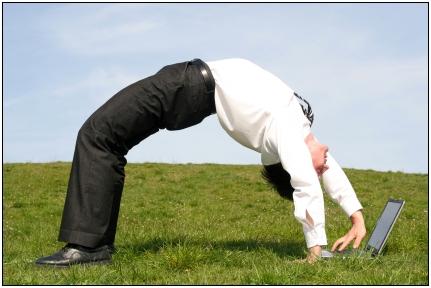 flexible businessman