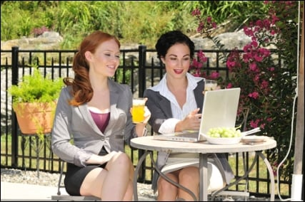 business women lunch