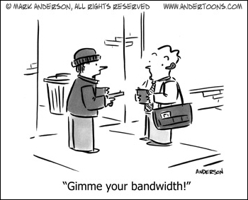 It's A Stick-Up: Gimme Your Bandwidth!