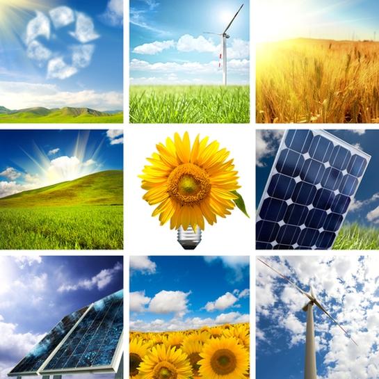 renewable energy collage