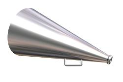 megaphone over white