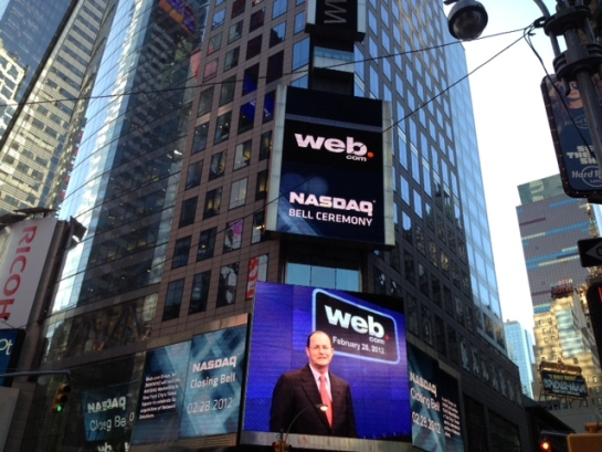 Web.com Rings the NASDAQ Closing Bell: A Small Business Grows Up