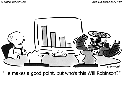 sales graph business cartoon