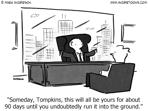 business inheritance cartoon