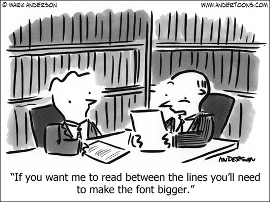read between the lines cartoon