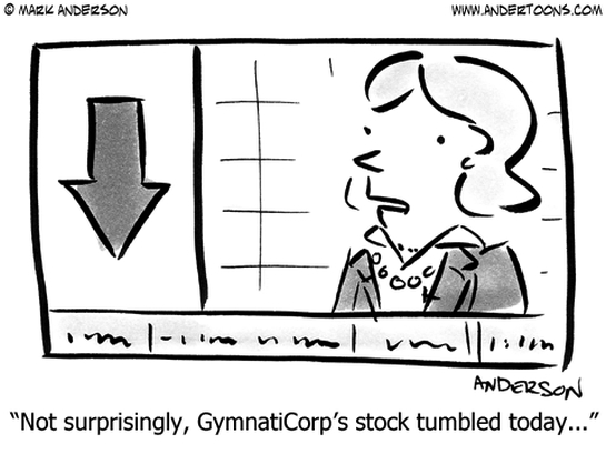 GymnatiCorp's Stock: Tumbled Again