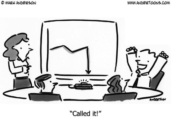 sales graph cartoon