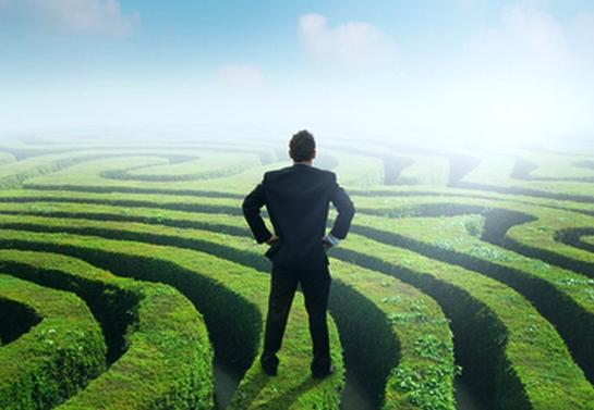 navigating maze