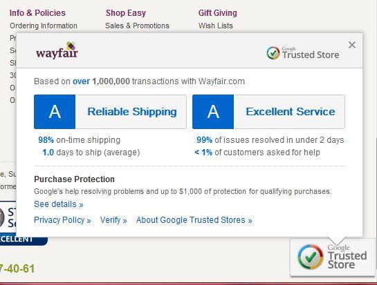 Google Trust Store seal