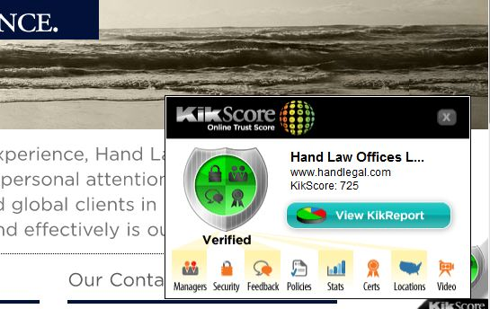 KikScore confidence badge