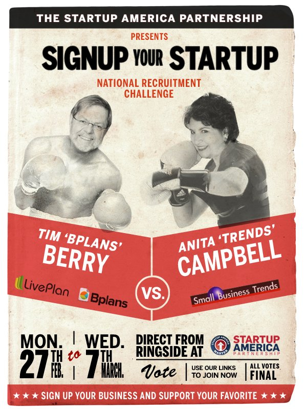 Small Business Trends - Startup America Parternship Poster