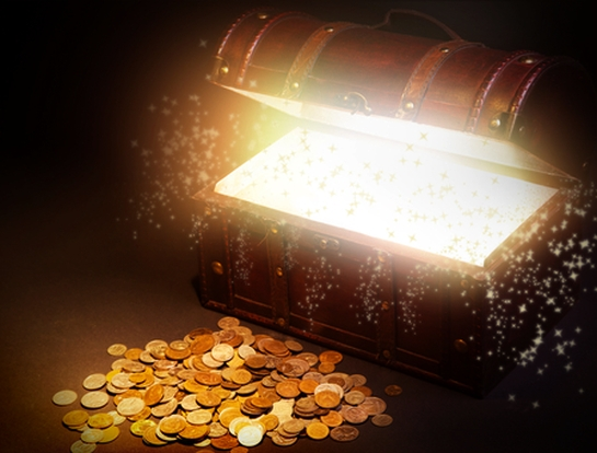 treasure chest gold