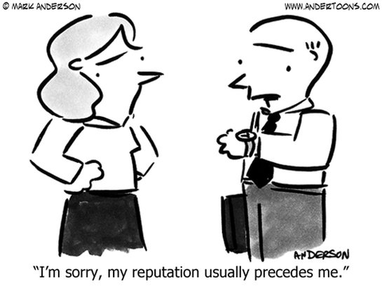 reputation business cartoon