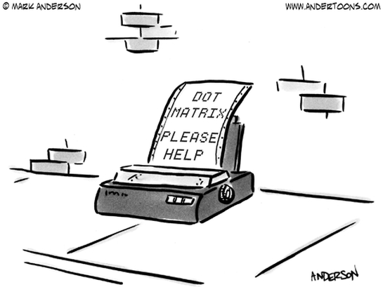 dot matrix business cartoon