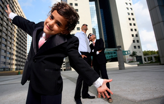 child businessman
