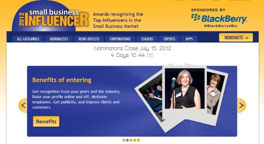Nominate today for the Small Business Influencer Awards!