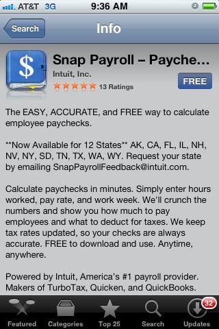Snap Payroll App