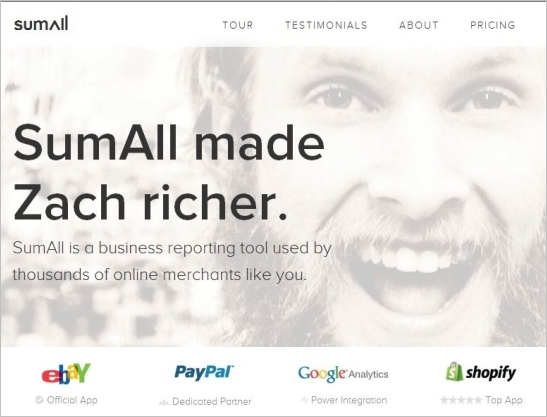 SumAll: Financial Analysis by Tracking Your Website Traffic