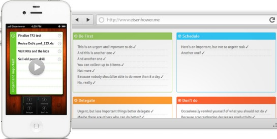 Eisenhower.me Puts New Spin on Productivity Apps
