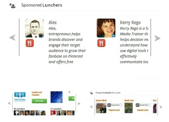 LetsLunch: A Matchmaking Site for Business Lunches