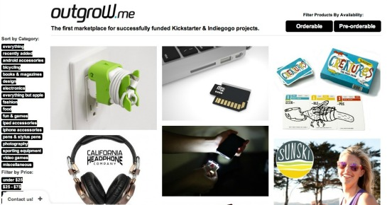 Outgrow.me Spotlights Successful Crowdfunded Projects