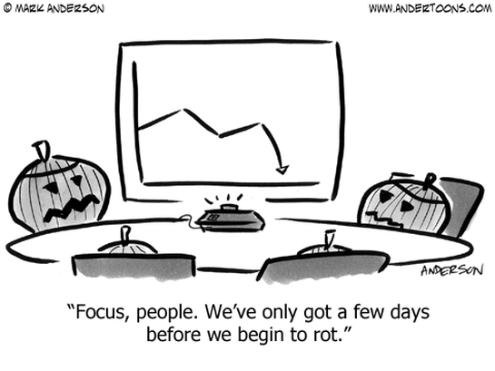business cartoon focus timing