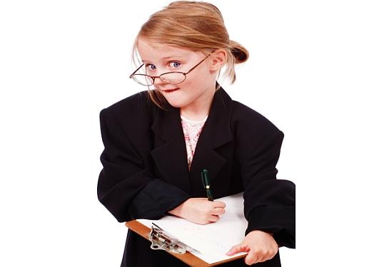 child businesswoman
