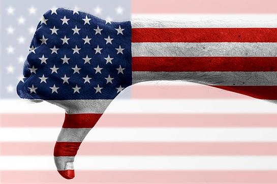 thumbs down flag