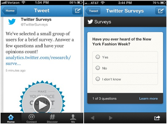 Twitter Survey Feature for Advertisers