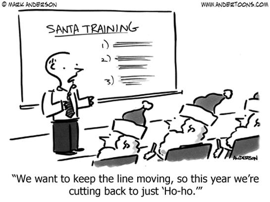 cut backs business cartoon