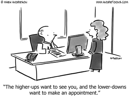 higher ups business cartoon