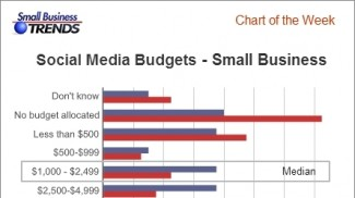 Social media budgets small businesses