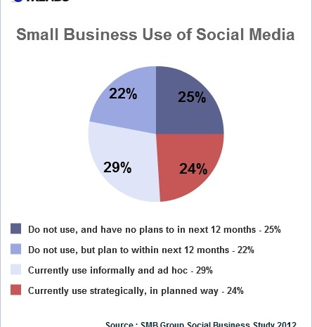 Small businesses use social media strategically