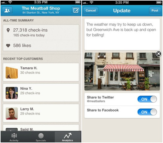 foursquare for business app
