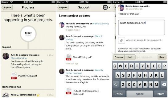 basecamp mobile app