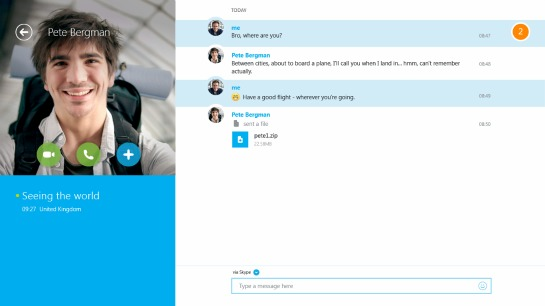 skype file sharing