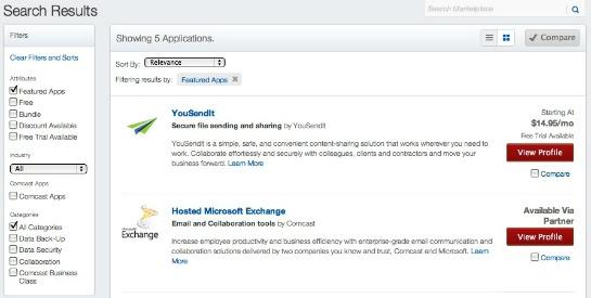 comcast upware marketplace