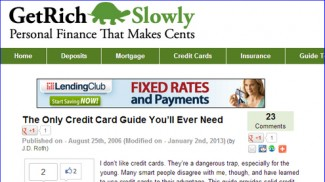 Credit Card List Post - Get Rich Slowy