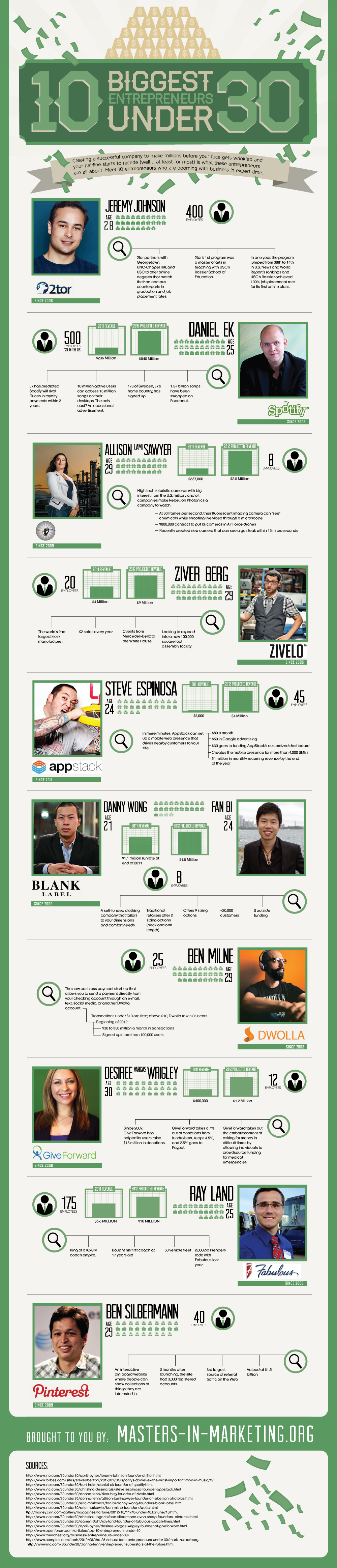 young entrepreneurs infographic
