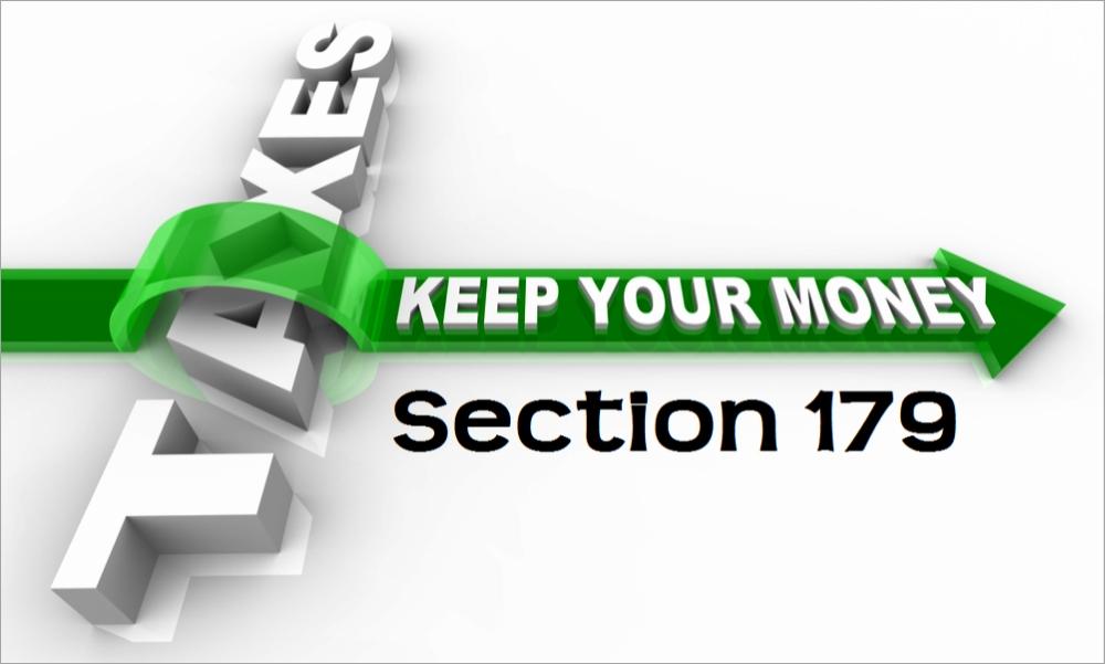 U.S. Capital Equipment Tax Deduction Rule Section 179 ...
