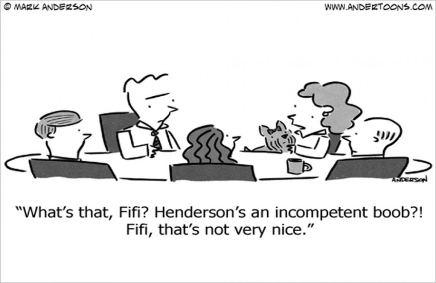 business conference cartoon