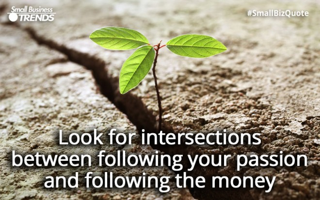 Intersection between passion and money
