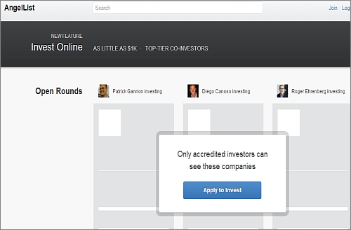 AngelList online angel capital