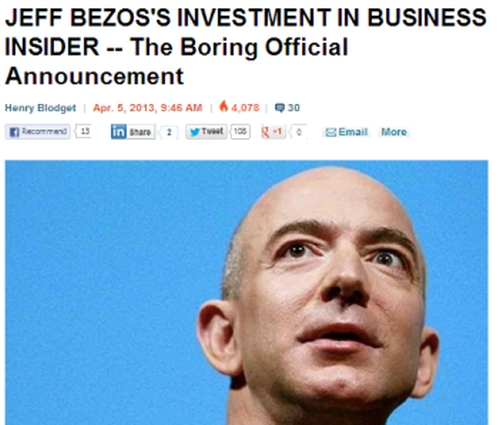 Bezos invests in digital publication Business Insider
