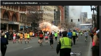 Marathon bombing image