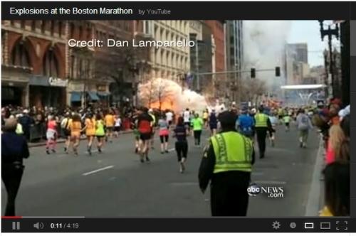 Marathon bombing image