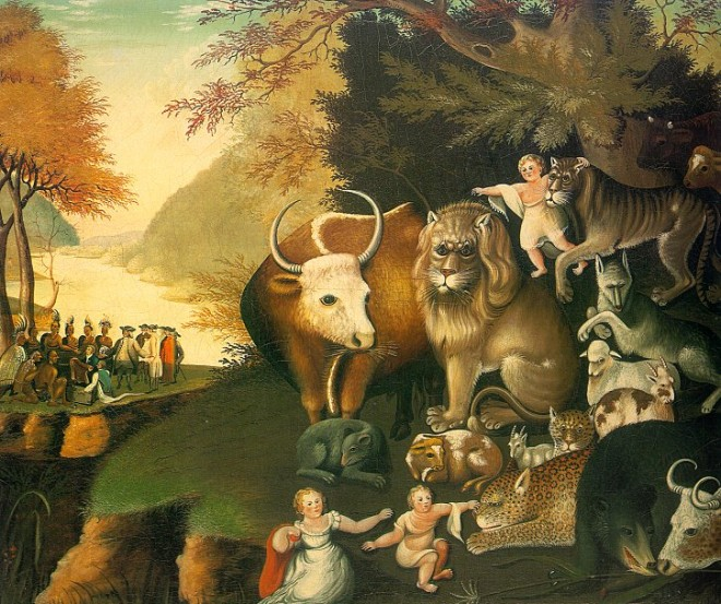 Halsey Minor goes bankrupt buying paintings like Peaceable Kingdom
