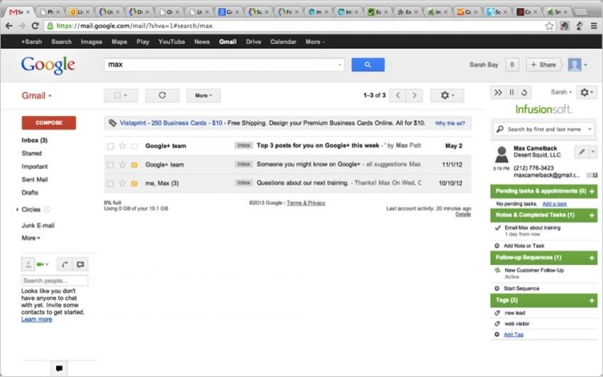 infusionsoft gmail