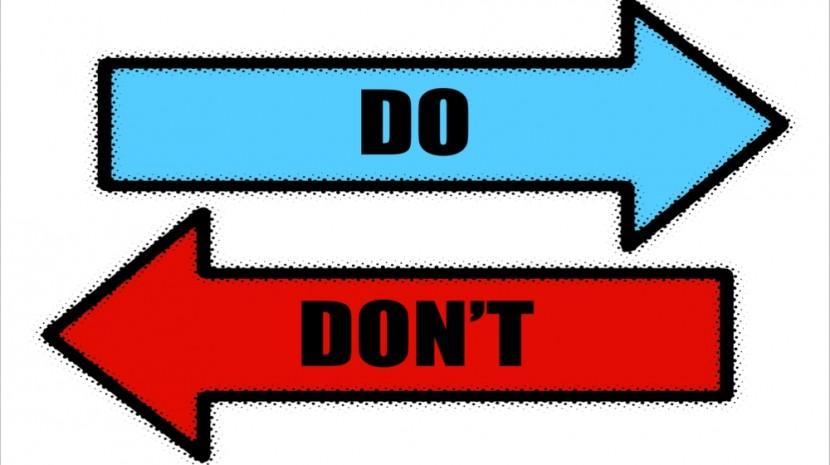 do's don'ts